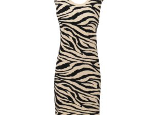 LANEUS- Tiger Print Dress