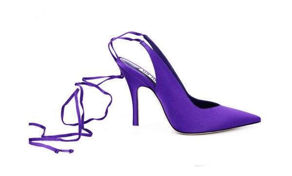 THE ATTICO – slingback 110mm lace-up pumps